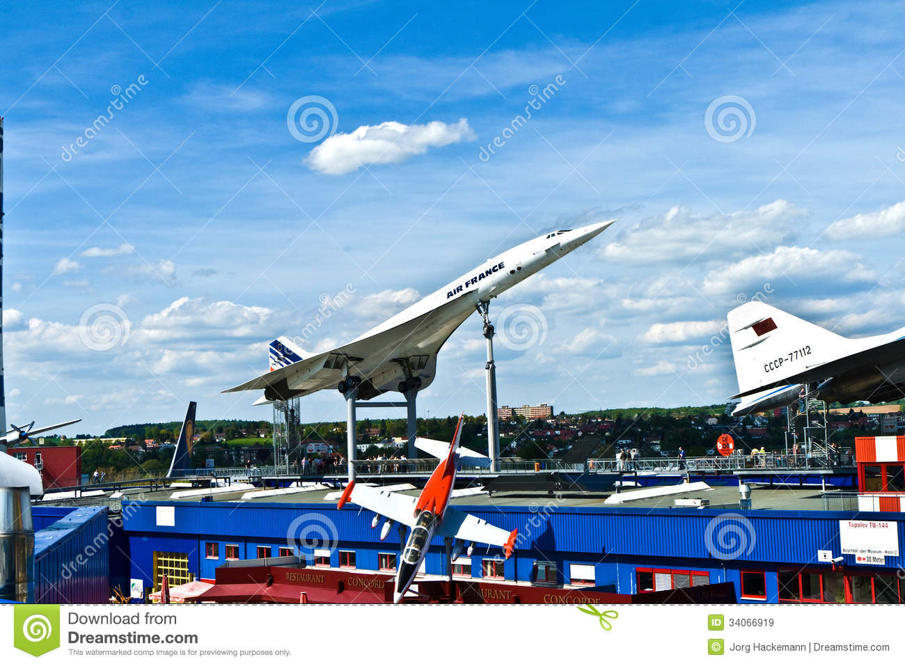 Architekt Sinsheim Aircraft Concorde In The Museum Editorial Stock Image