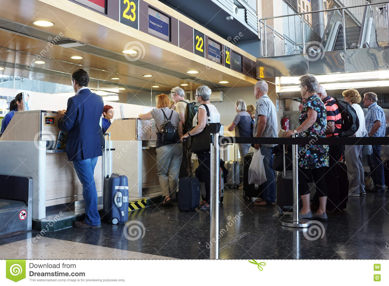 Airport Check In Counter Editorial Photography Image Of