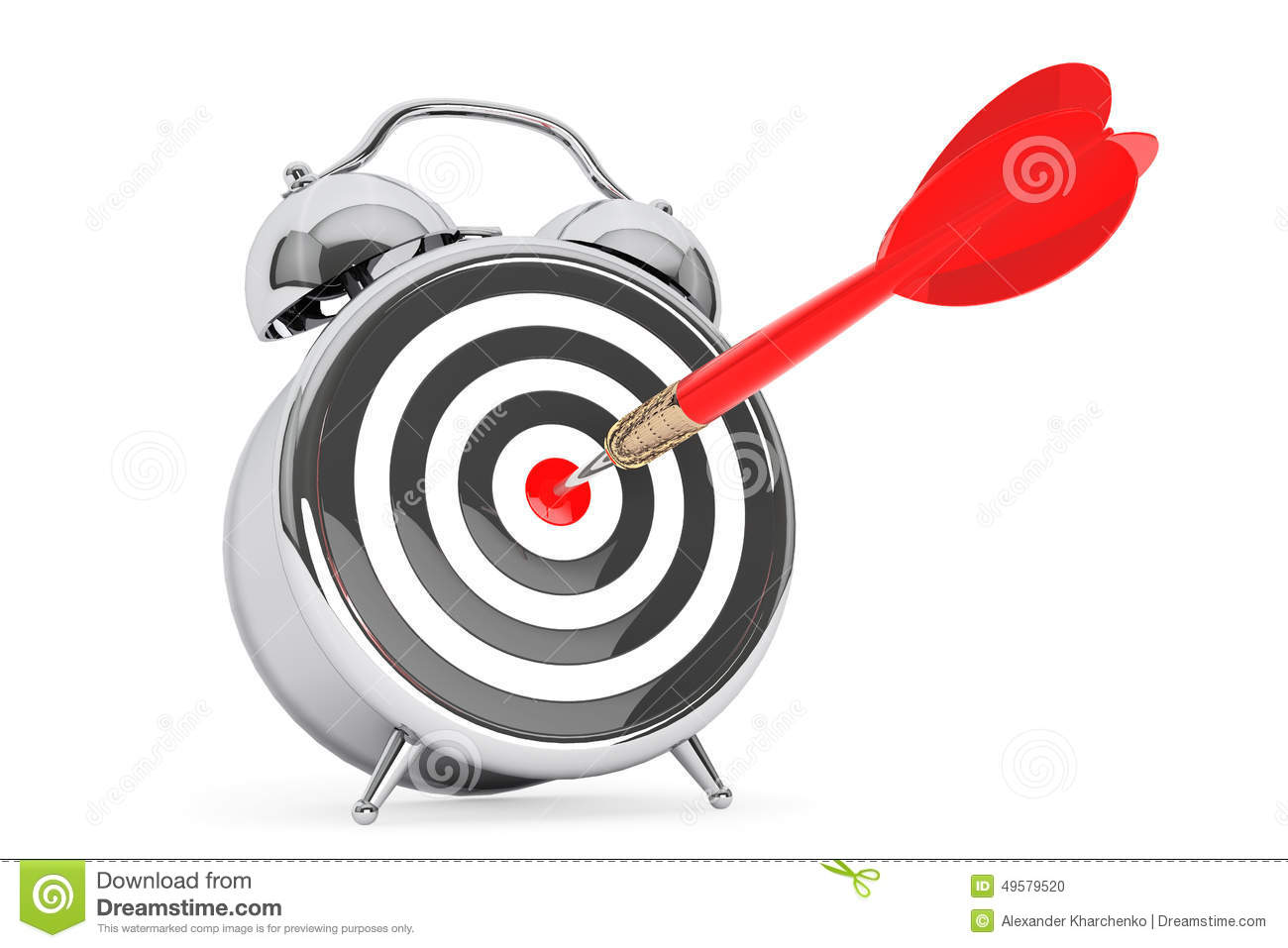 Alarm Clocks Target Alarm Clock With Target And Dart Arrow Stock Illustration
