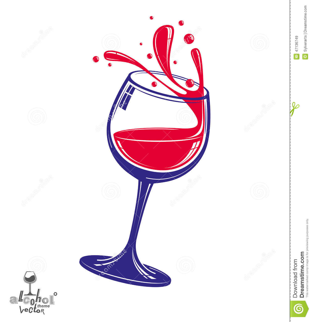 Weinglas Clipart Kostenlos Alcohol Theme Vector Art Illustration 3d Realistic Wine