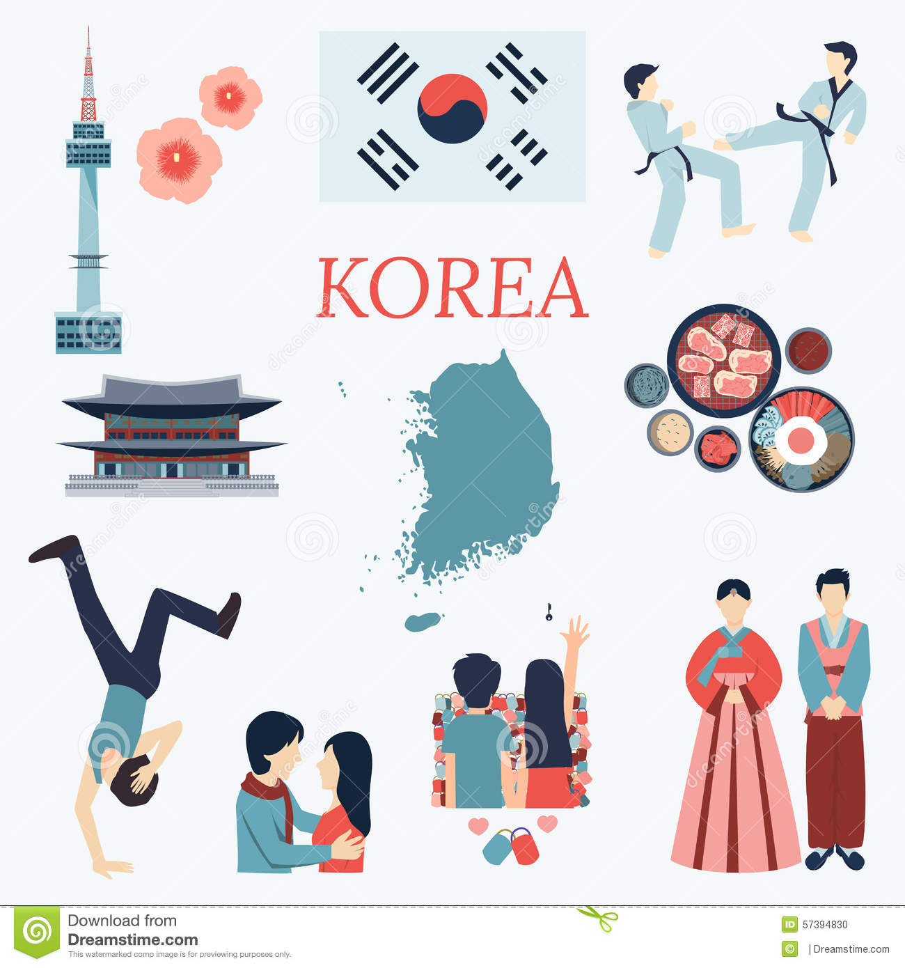 3d Wallpaper House Malaysia All About Korea Flat Design Elements Kpop Korean Series