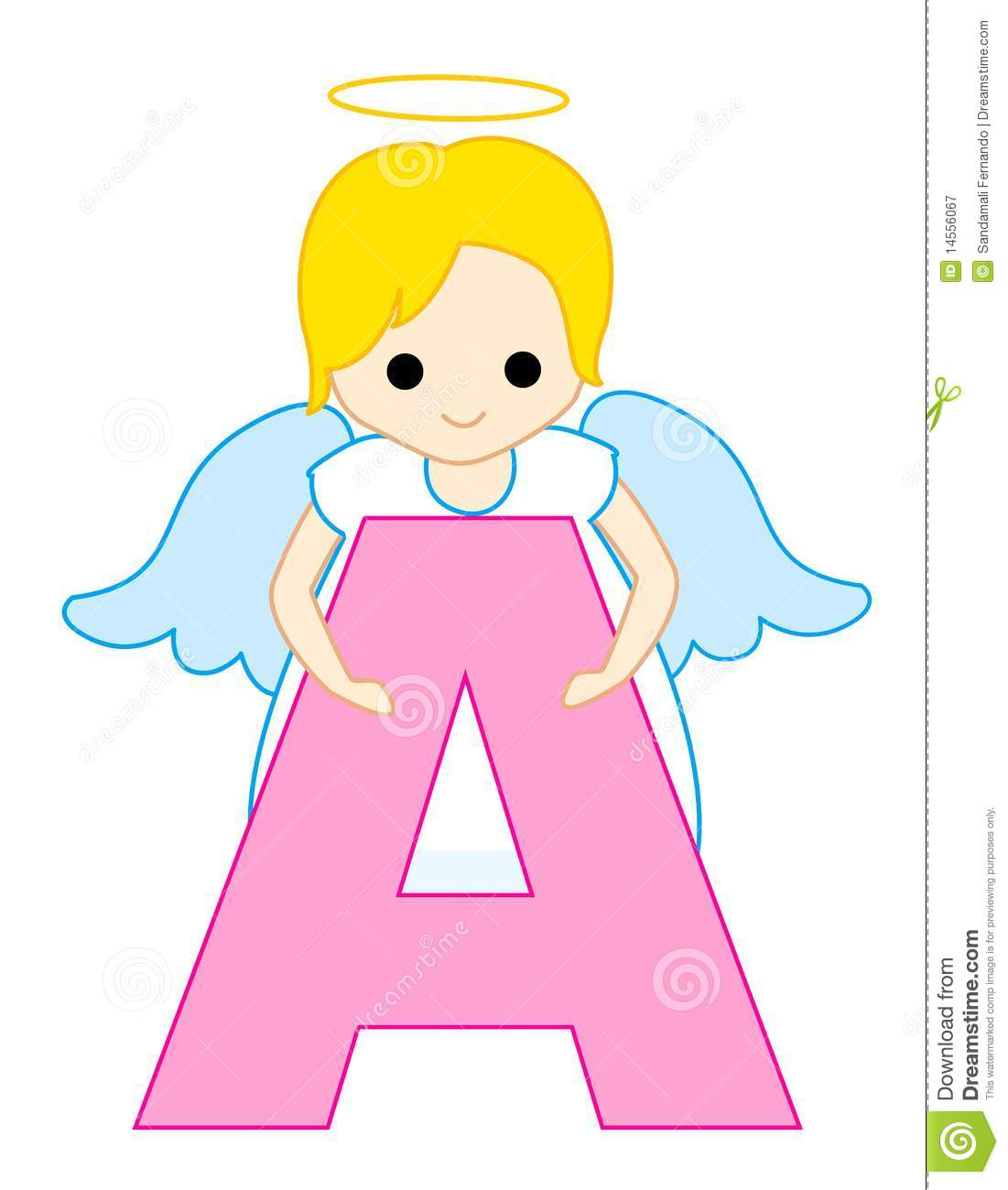 Cute Baby Angel Wallpaper Alphabet Letter A Stock Vector Image Of Education