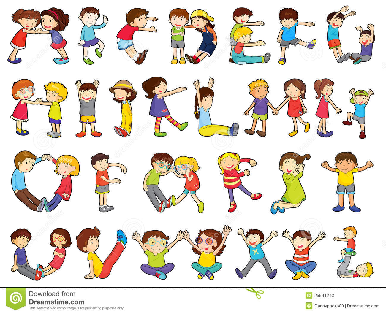 Cute Toddlers Playing Cartoon Wallpaper Alphabets In Kids Activities Stock Photos Image 25541243