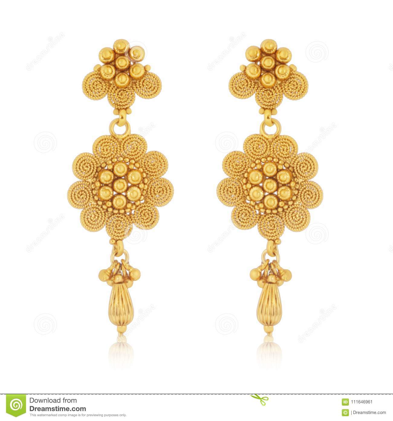 Gold S Amazing Gold Flower Tops In Fancy Design Stock Image Image Of