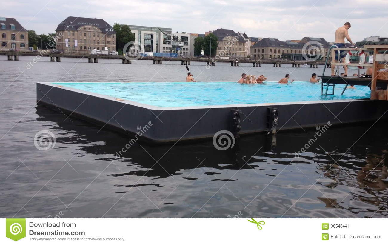 Swimmingpool Berlin Amazing Outdoor Swimming Pool Stock Video Video Of Sport Water