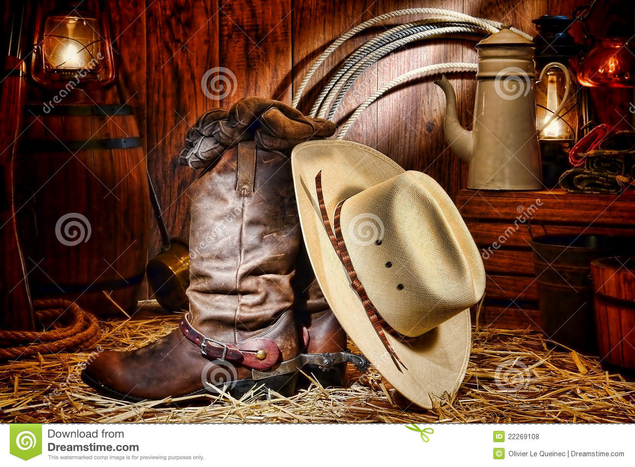 Cute Christmas Kitten Wallpaper American West Rodeo Cowboy Hat And Boots In A Barn Royalty