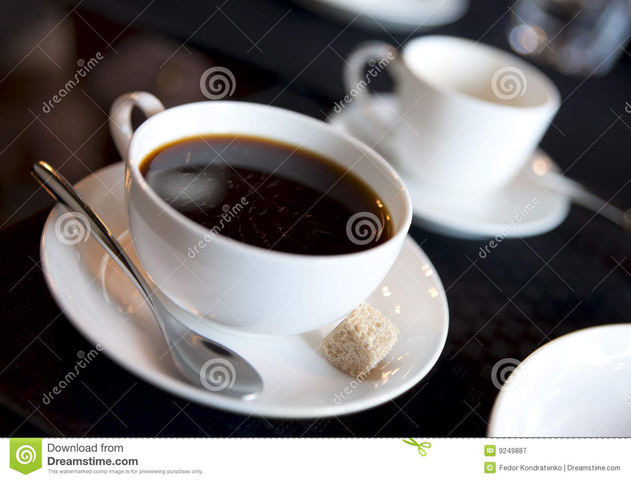 Americano Coffee To Go Americano With Espresso Cup In Background Royalty Free