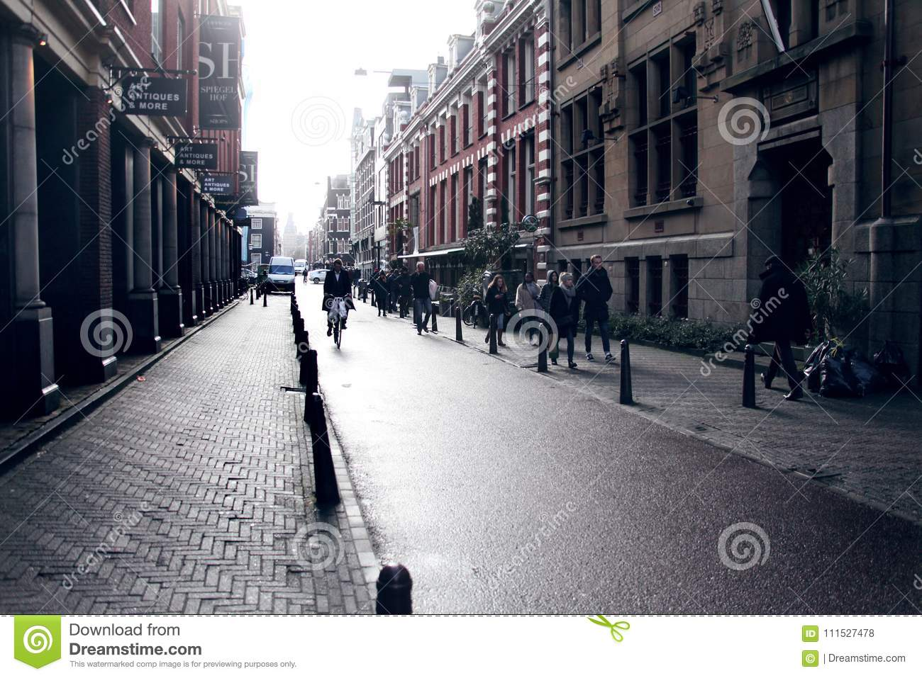 Spiegel Amsterdam Amsterdam Netherlands Lights And Shadows Editorial Stock Photo