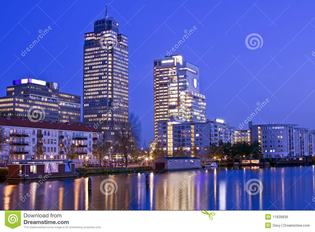 Amsterdam Skyline Amsterdam Skyline In The Netherlands Stock Photo Image