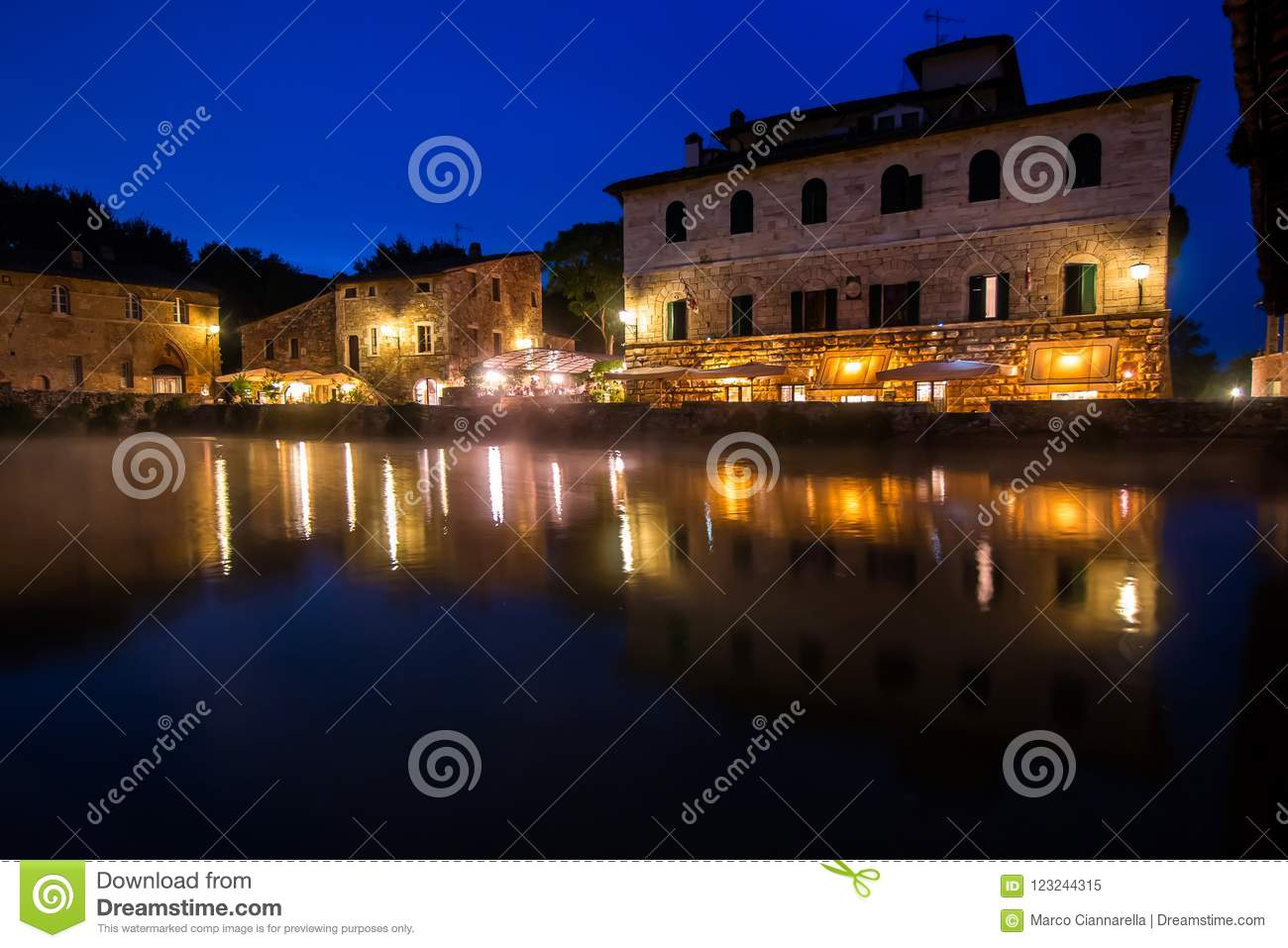 Bagno Vignoni Free Thermal Baths Ancient Thermal Bath In Bagno Vignoni Italy Stock Image Image
