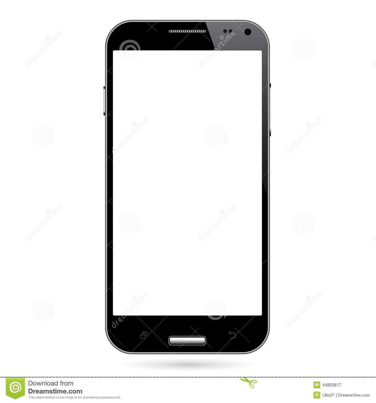 Iphone Wallpaper Icon Template Android Smart Phone Stock Vector Image 44859617