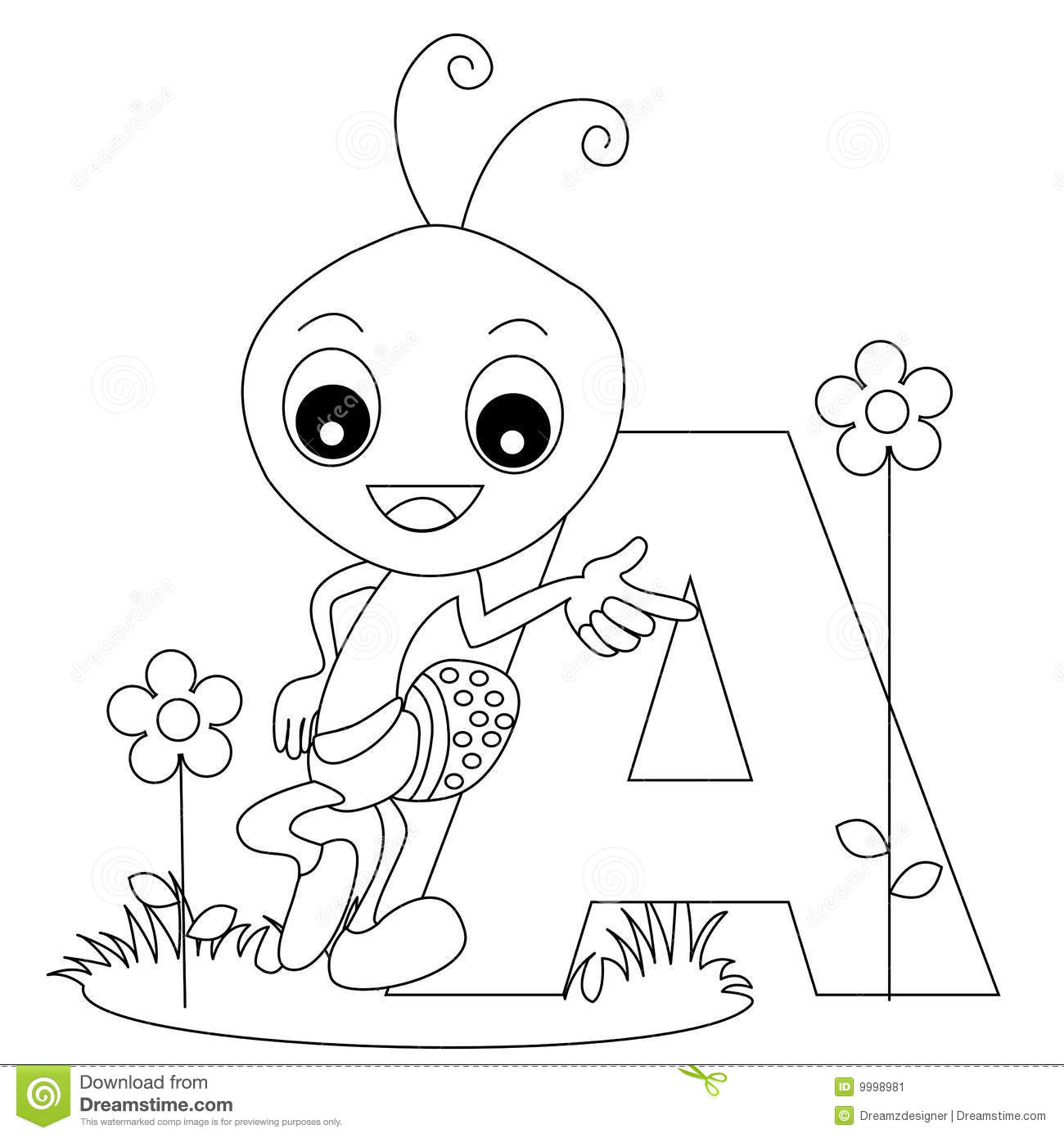 Alphabet w coloring pages - Download