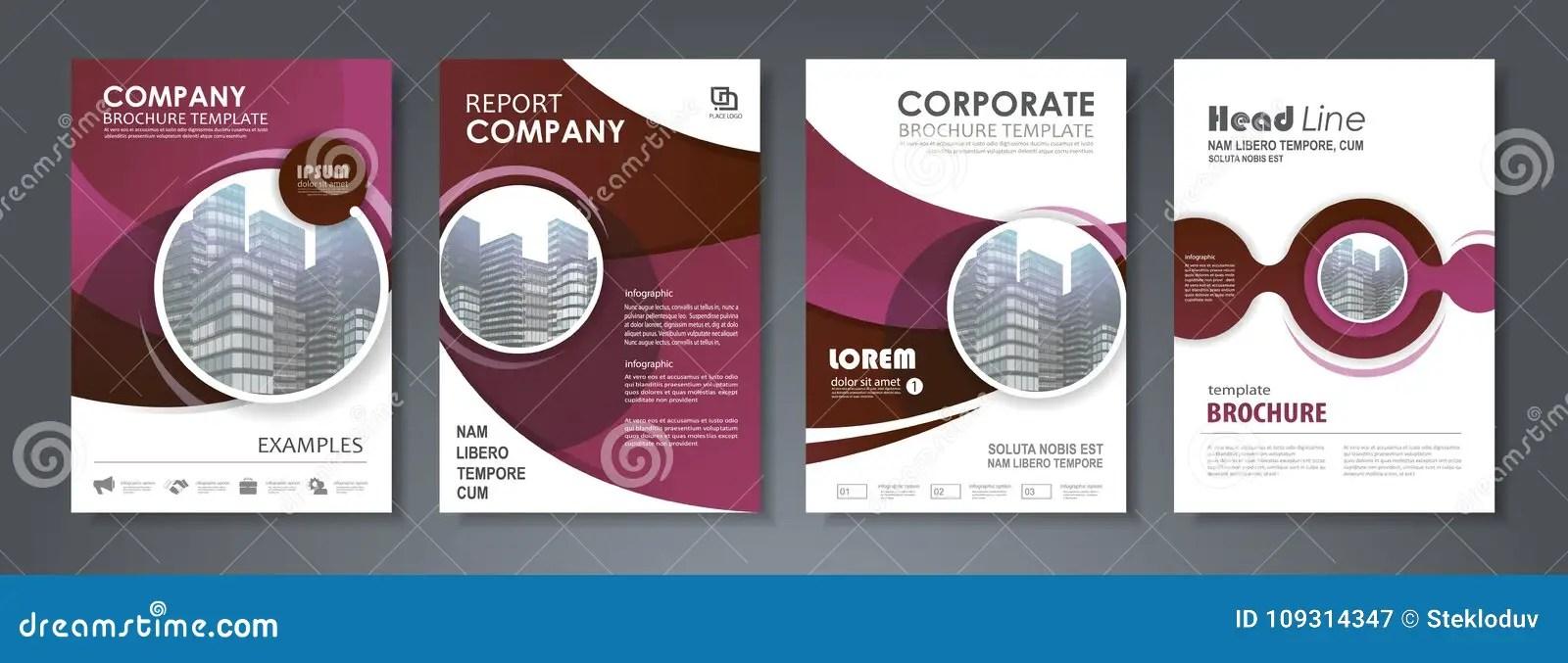 Annual report brochure stock vector Illustration of flyer - 109314347