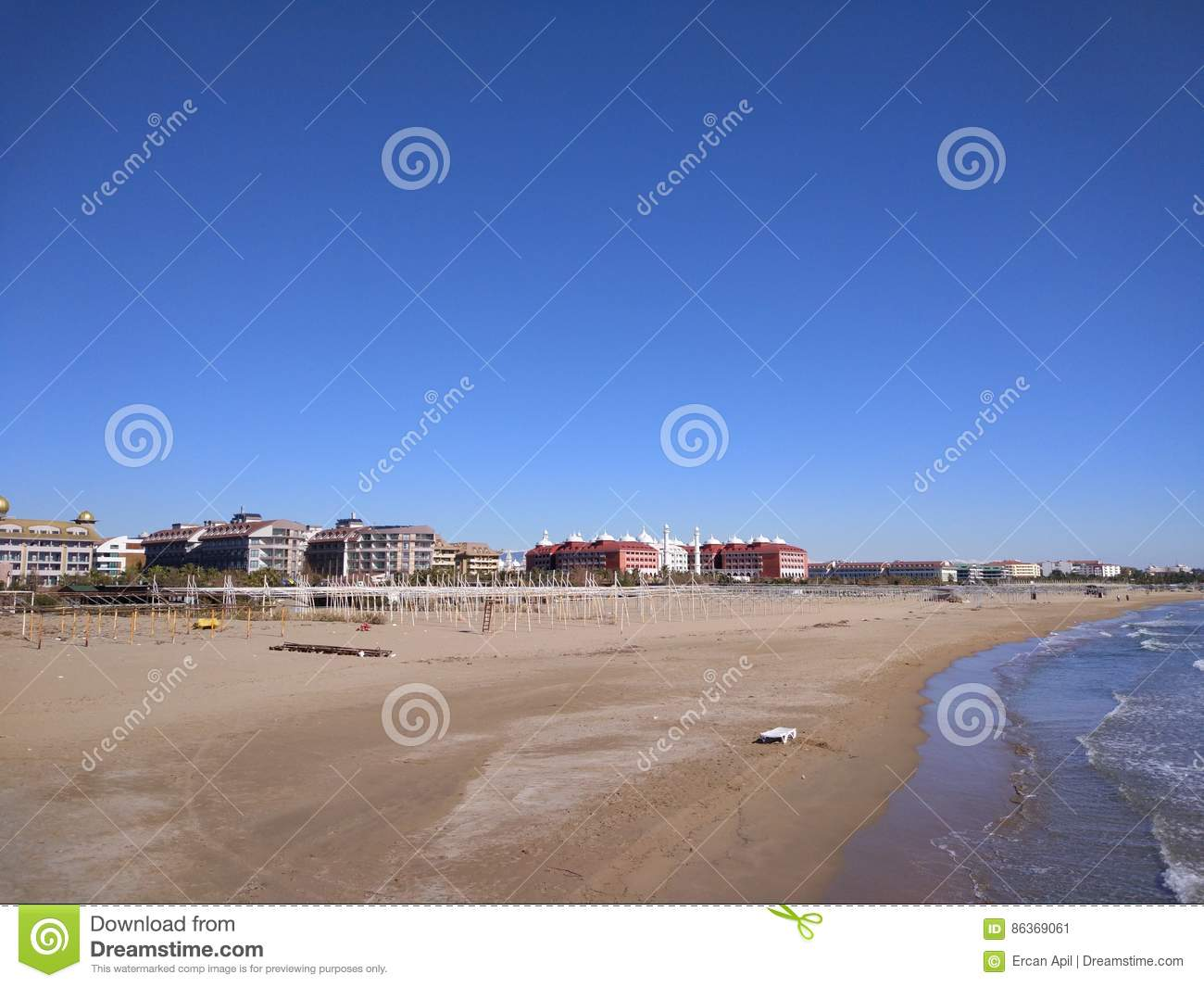 Kumköy Side Antalya Kumköy Strand Stock Image Image Of Cloud Strand 86369061