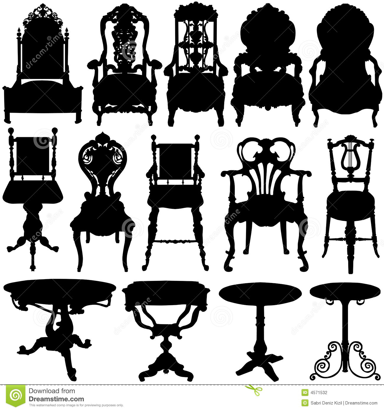 Sessel Vektor Antique Chair And Table Vector Stock Photography Image