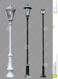 Antique Lamp Post Lamppost Street Road Light Pole Stock ...