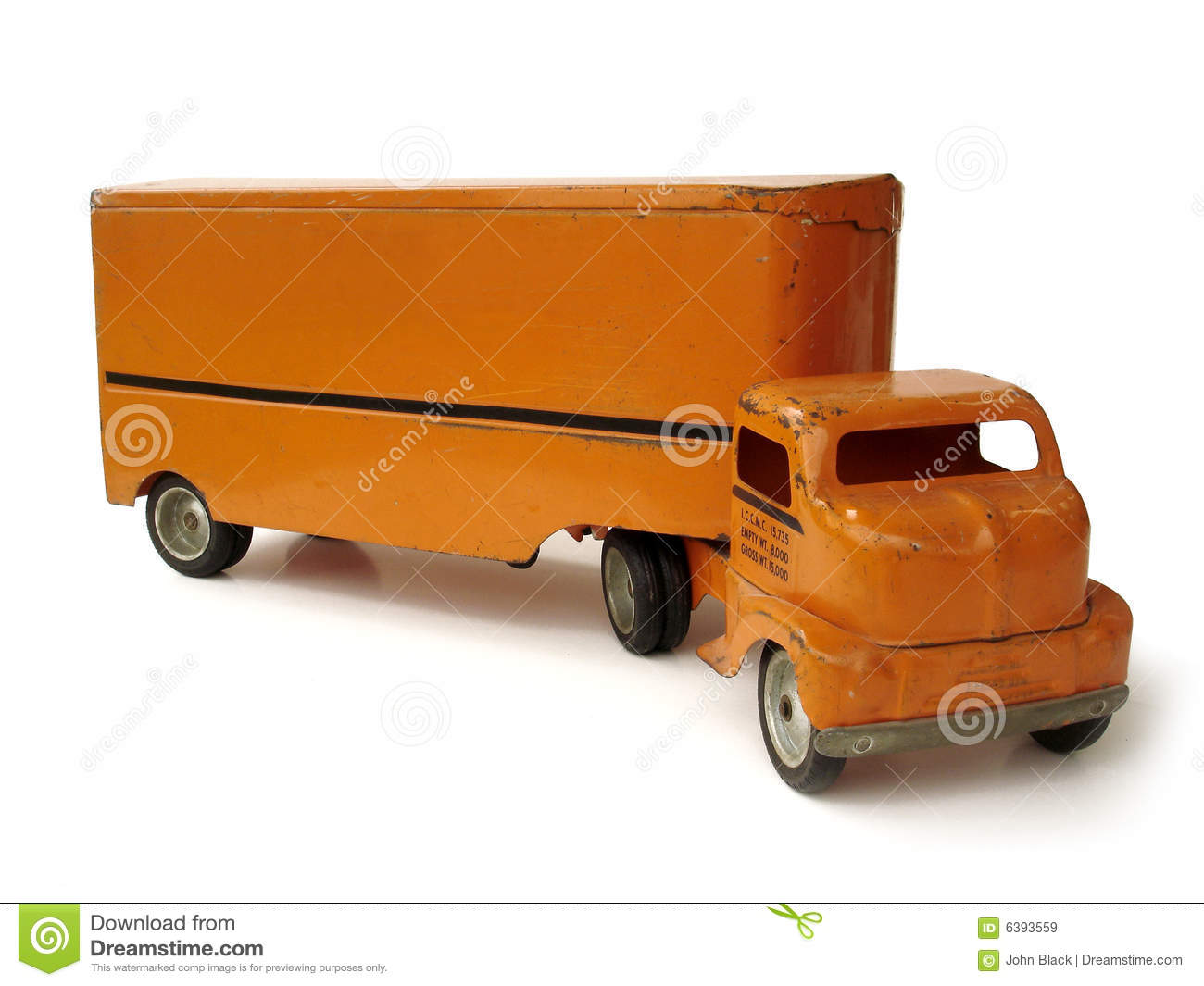 Toy Moving Truck Antique Toy Moving Truck Royalty Free Stock Images Image