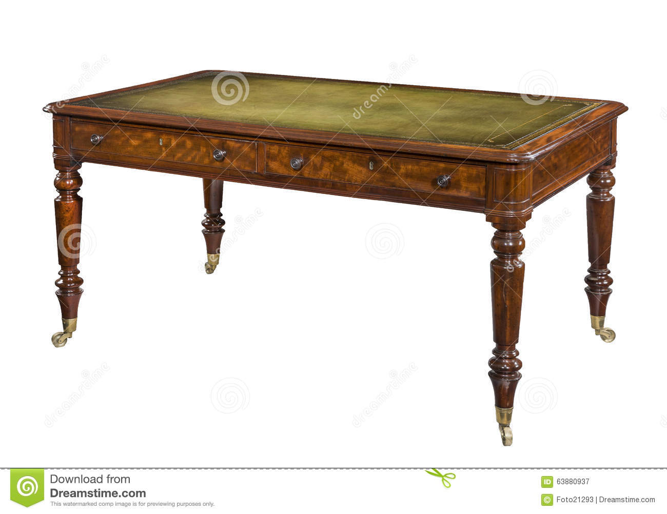 Writing Table Plans Antique Vintage Writing Table Desk Stock Image Image