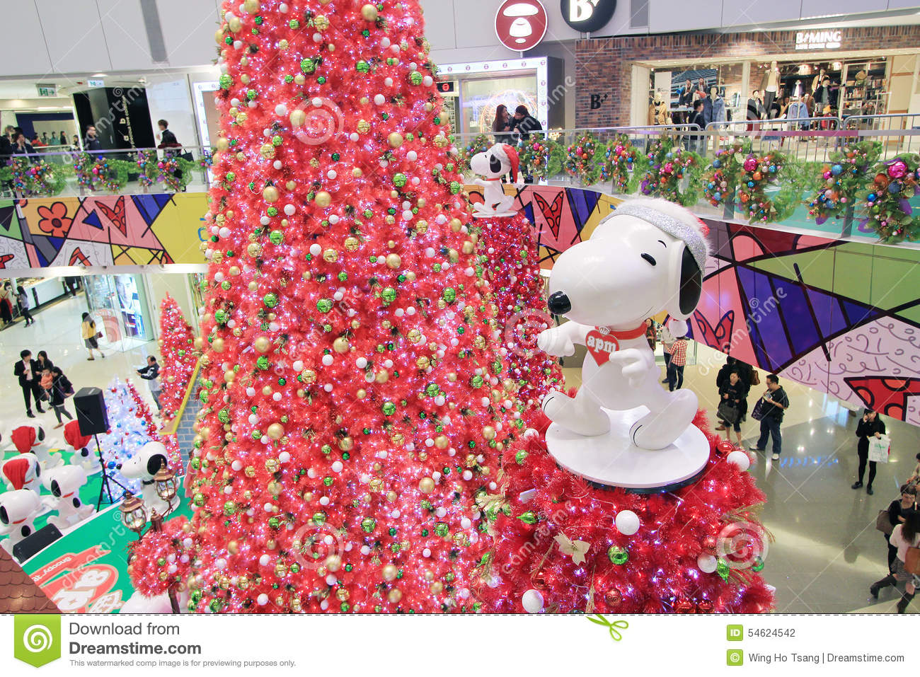 Apm Decoration Apm Christmas Snoopy Decoration In Hong Kong Editorial