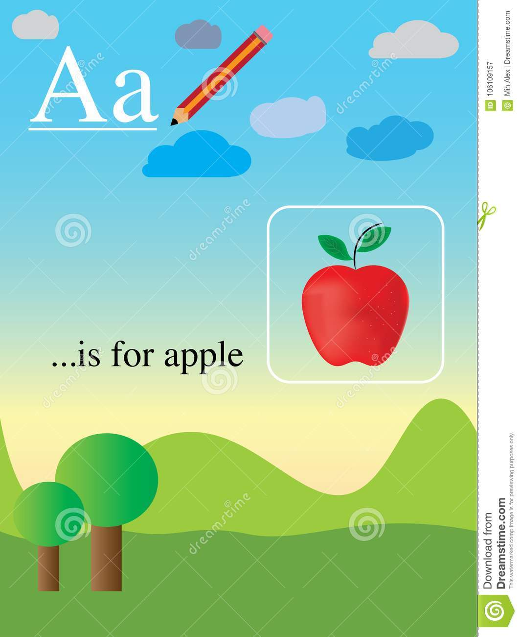 Anglais Facile Apprenant L Alphabet Anglais Facile Et Amusement Illustration De