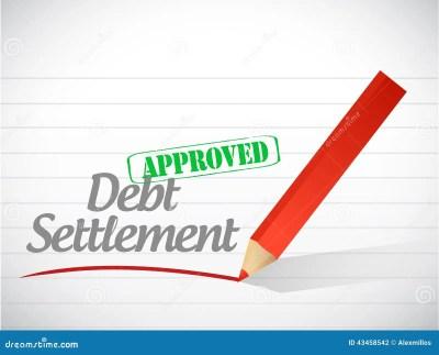 Debt Settlement Concept On Small Chalkboard. 3D. Royalty-Free Stock Image | CartoonDealer.com ...