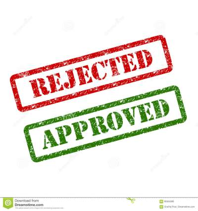 Approved Rejected Stamp Royalty-Free Stock Photography | CartoonDealer.com #21102653