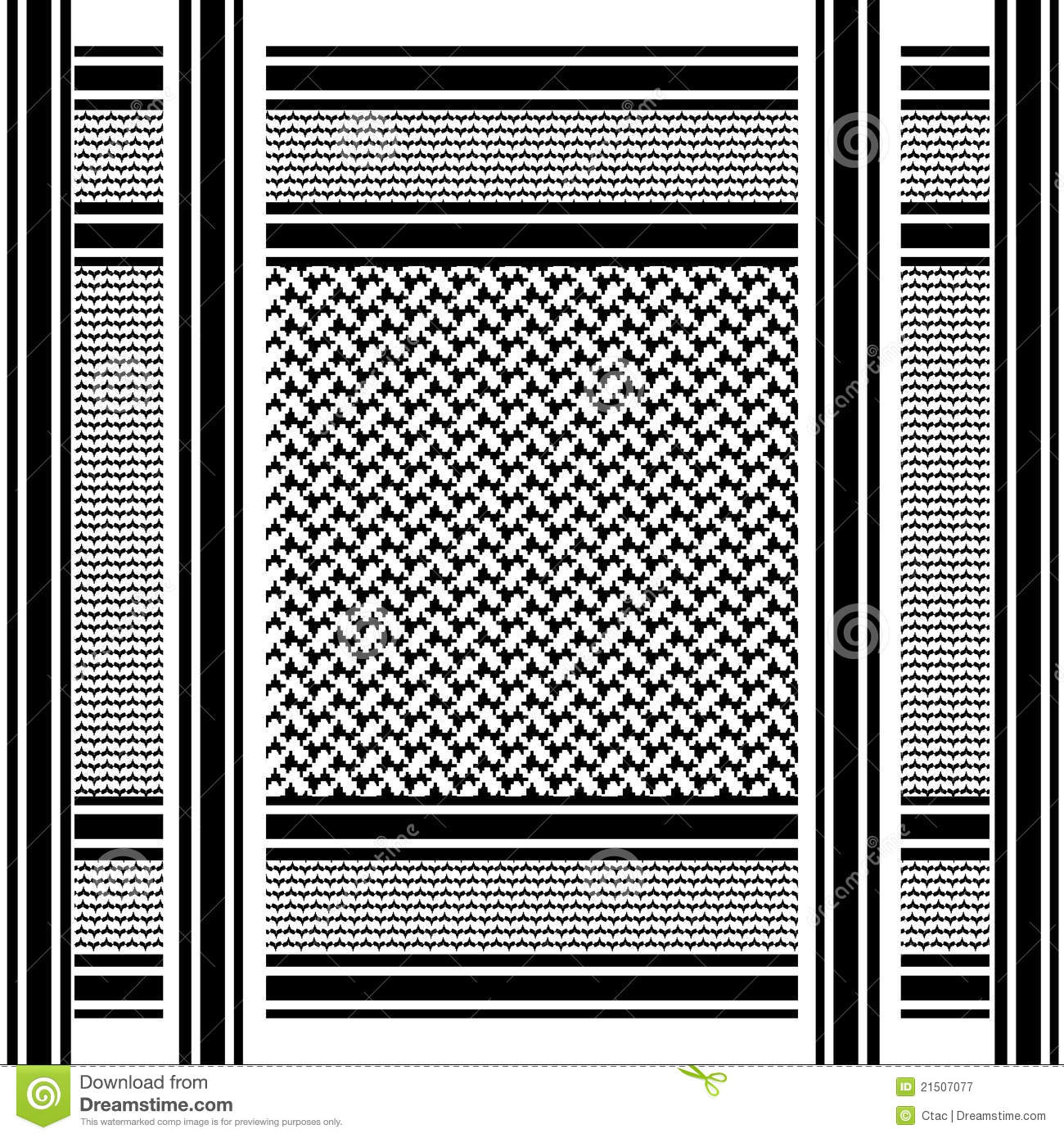 Black And White Geometric Wallpaper Arab Shemagh Scarf Royalty Free Stock Photography Image