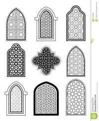 Arabic Or Islamic Traditional Architecture, Set Of Window ...