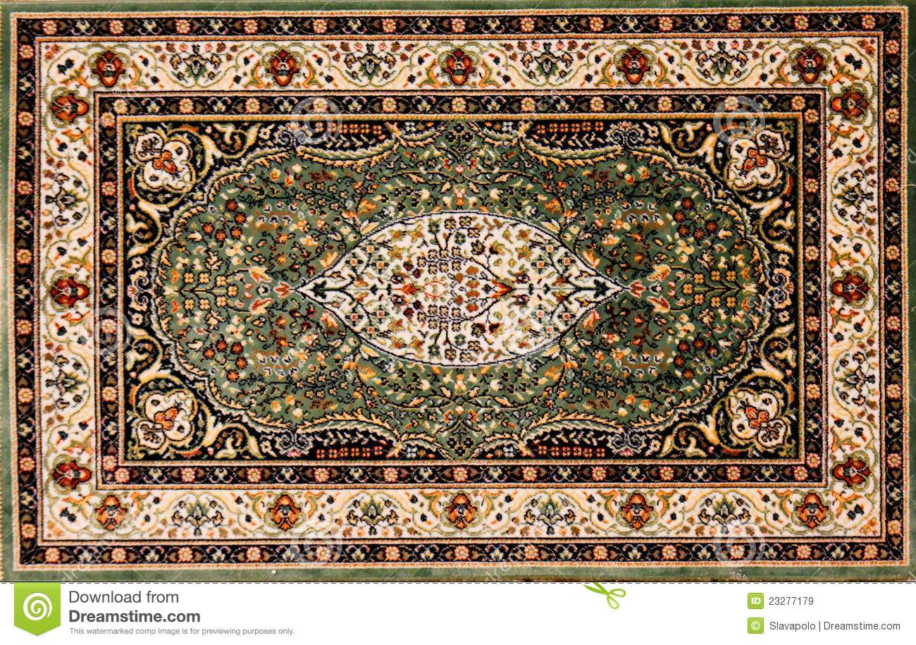 Arabische Teppiche Arabic Rug With Floral Pattern Stock Image Image Of
