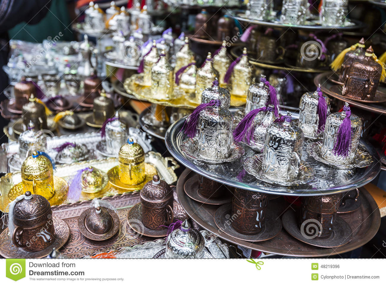 Arabica Tea Coffee Zeist Arabic Tea Coffee Set Stock Photo Image 48219396