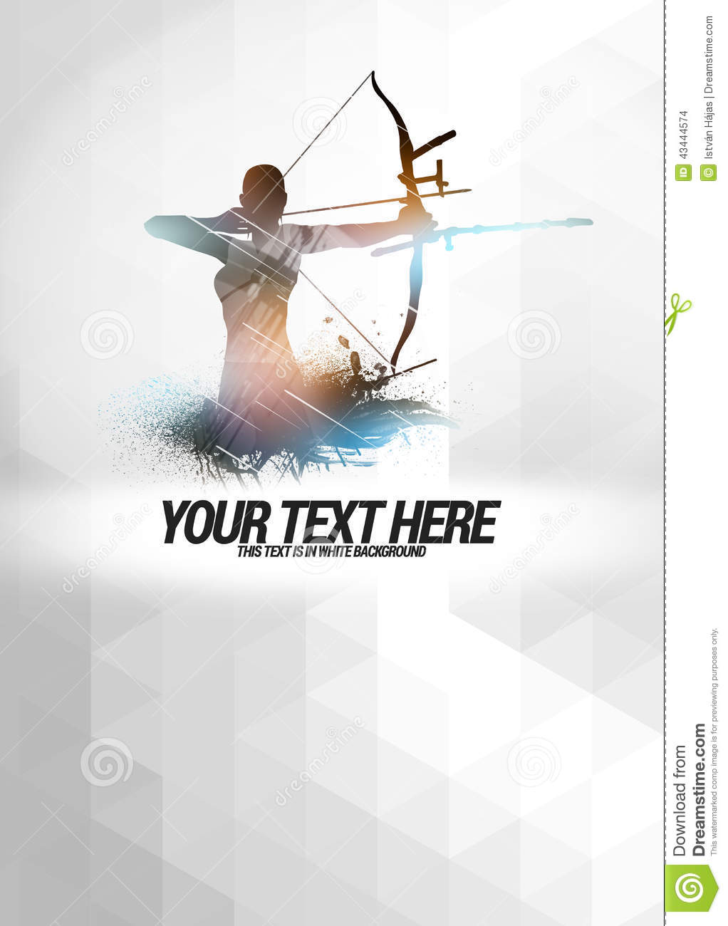 Dirty Girl Wallpaper Download Archery Background Stock Illustration Image 43444574