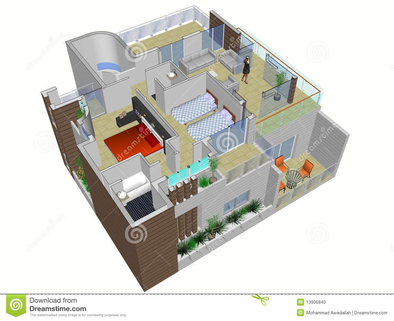 Architecture Design House Plans Architectural Plan Of House Stock Illustration Image