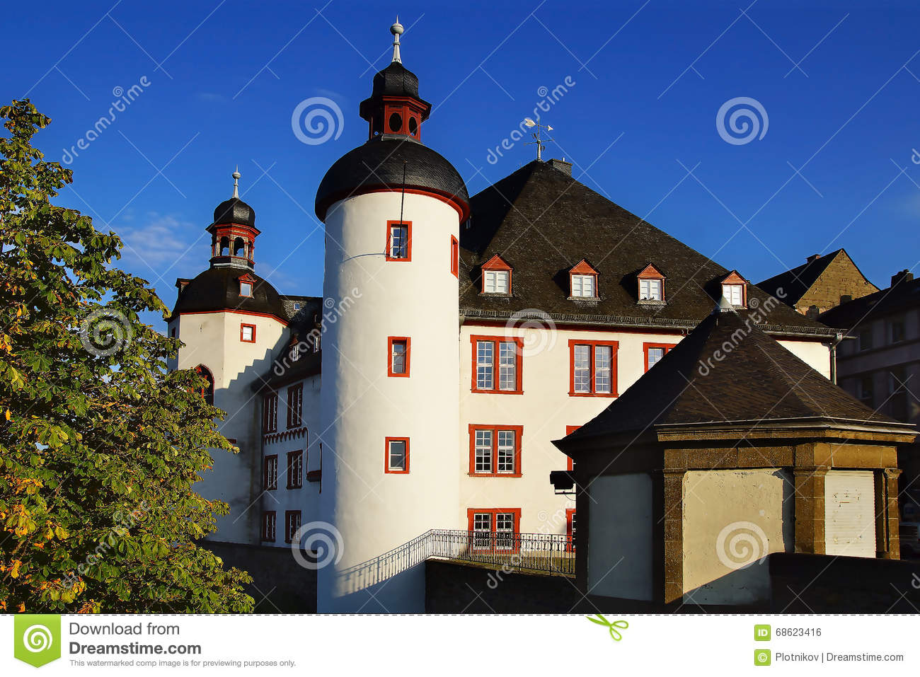 Apartment Koblenz Archives Of The Old Castle Koblenz Stock Photo Image Of
