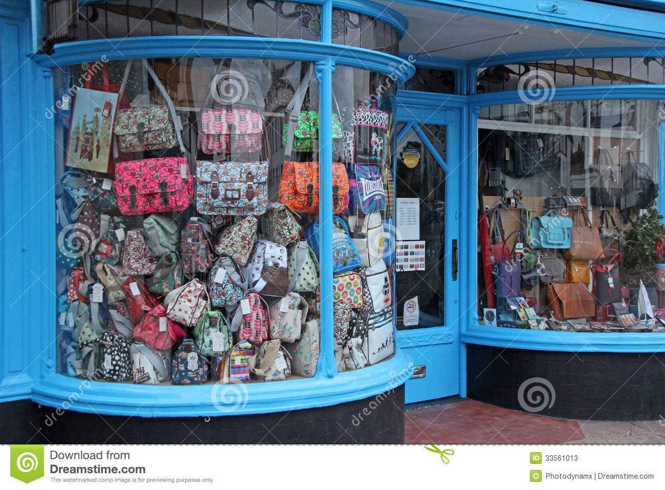 Deco Store Art Deco Shop Bow Fronted Window Editorial Stock Photo