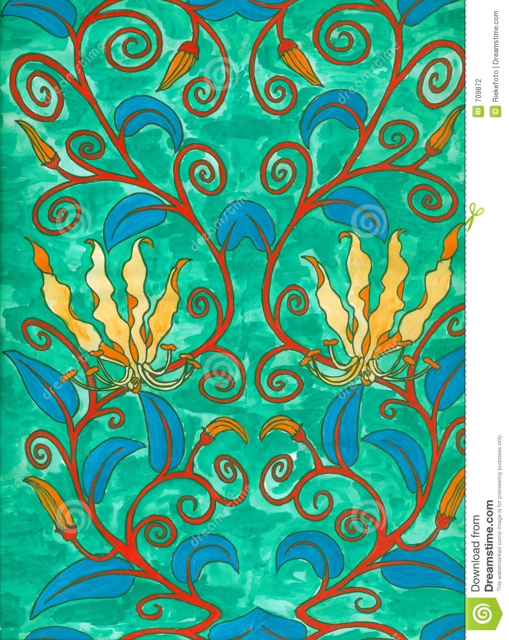 Art Nouveau Pintura Art Nouveau Painting Stock Illustration Illustration Of Growth