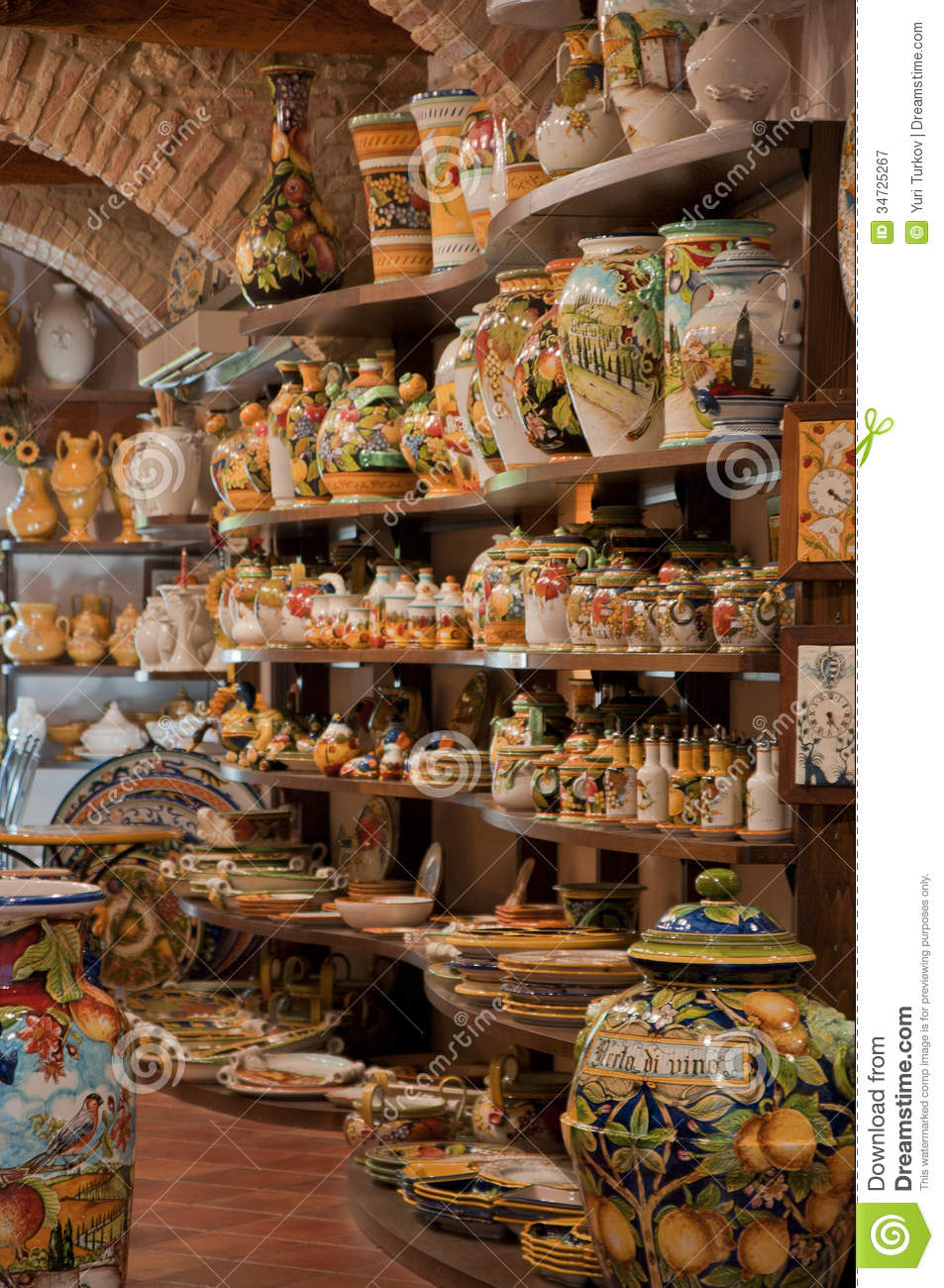 Art Store At The Art Store Stock Image Image Of Made Vase Shopping 34725267