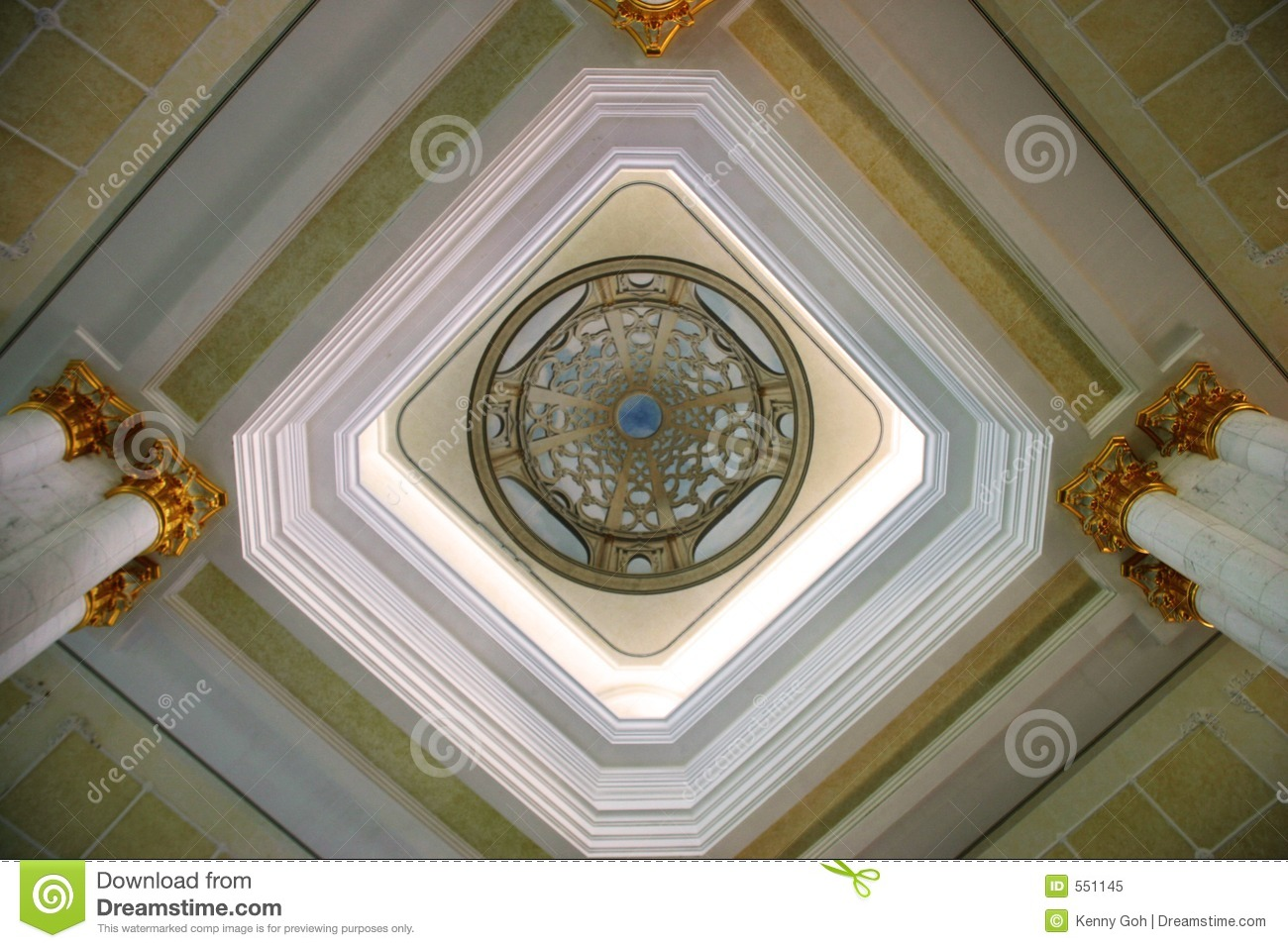 Ceiling Design Vector Artistic Ceiling Design Stock Image Image Of Islam