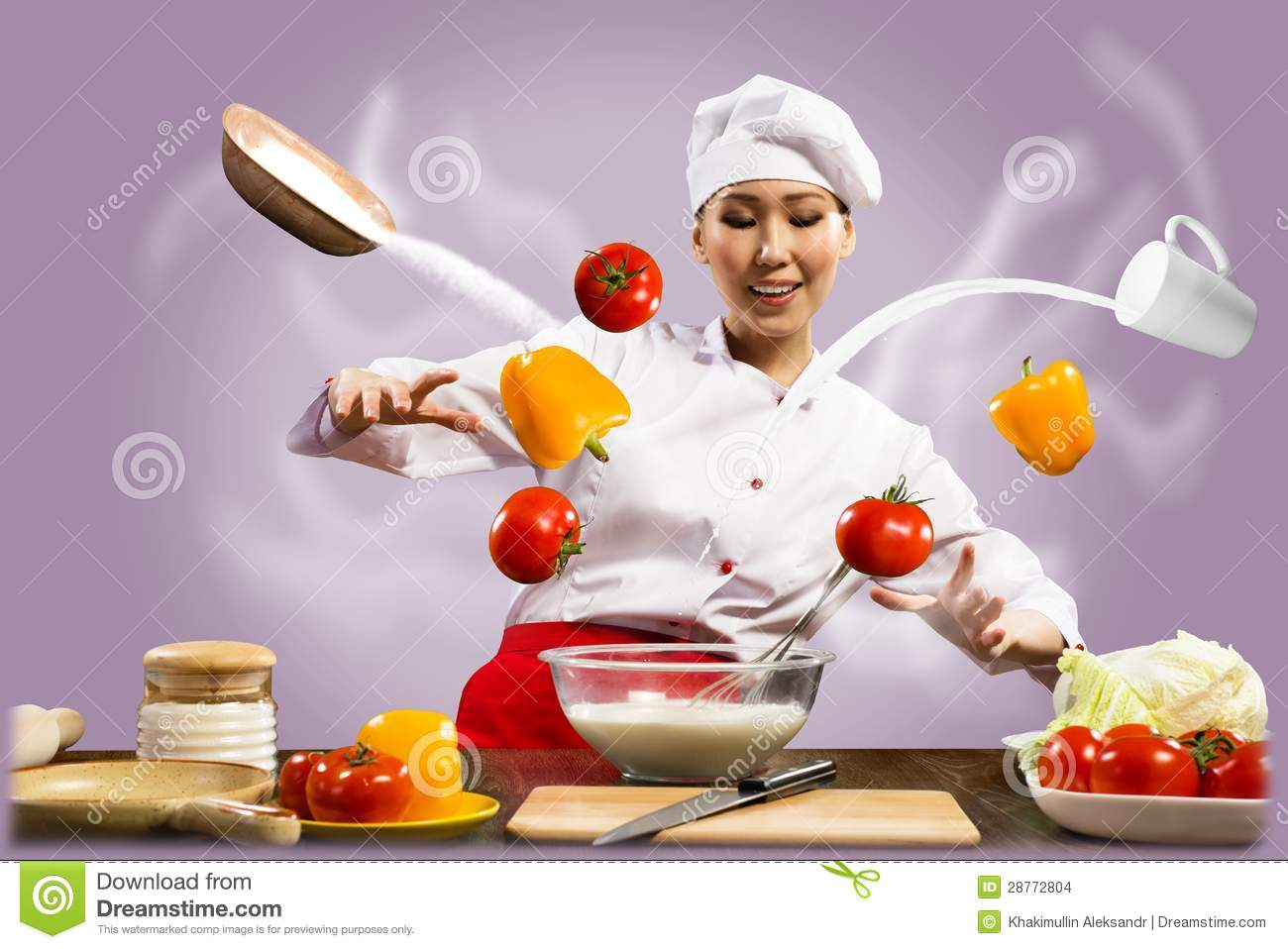 Punjabi Beautiful Girl Wallpaper Download Asian Female Chef In The Kitchen Conjures Stock Photo