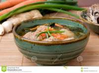 Asian Meatball Soup stock image. Image of meat, pork ...