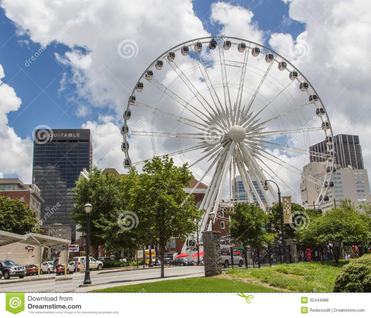 Atlanta Designers Atlanta Ferris Wheel Editorial Photo - Image: 32444986