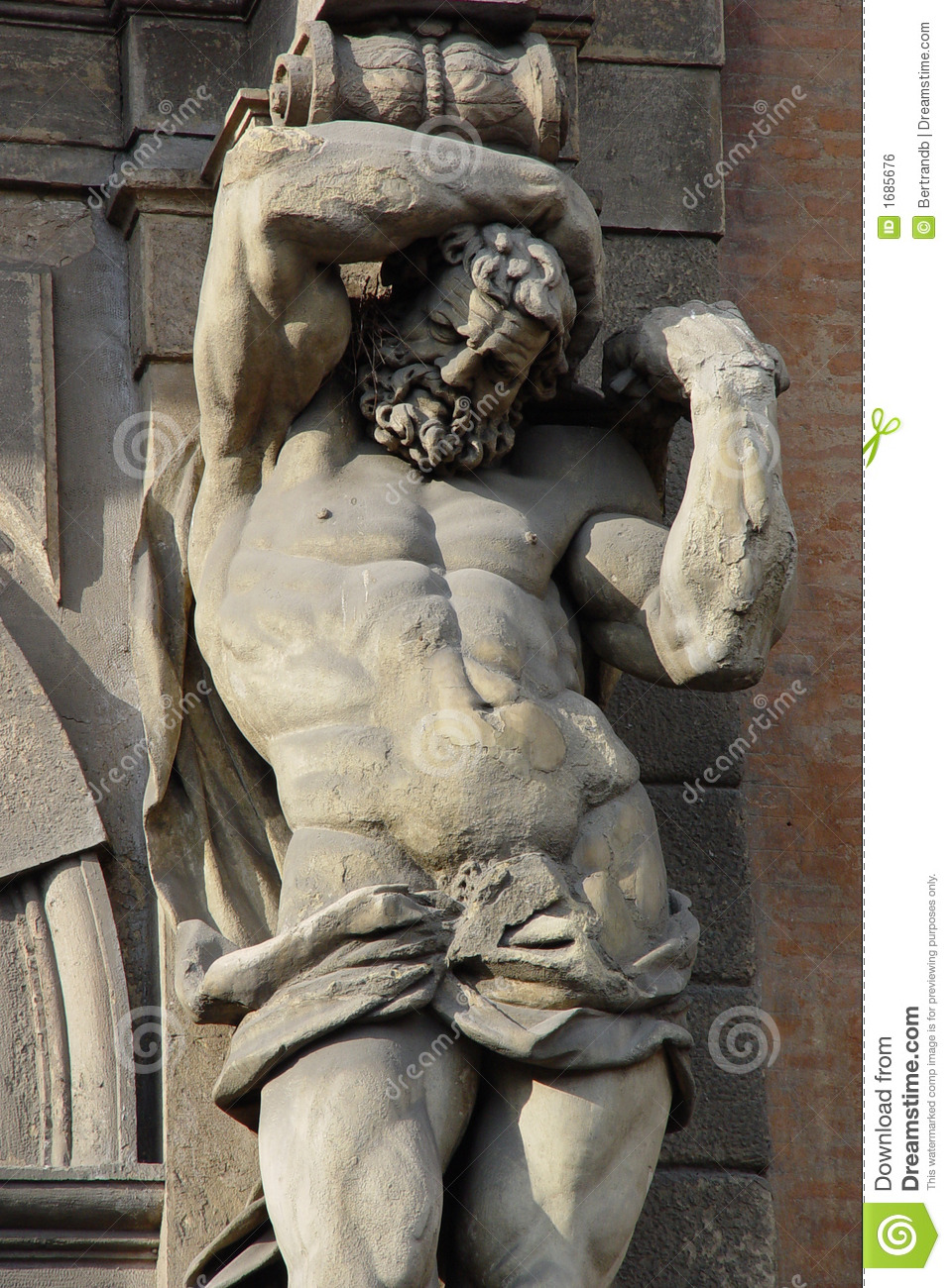 Exterieur 8 X 10 Atlante Statue Stock Photo. Image Of Building, Fine