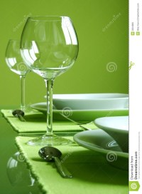 Attractive Green Table Setting Royalty Free Stock Image ...