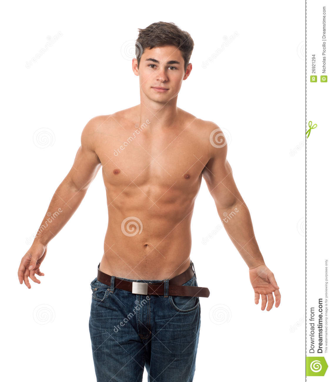 Franke Menden Attractive Shirtless Man Stock Images Image 26921294