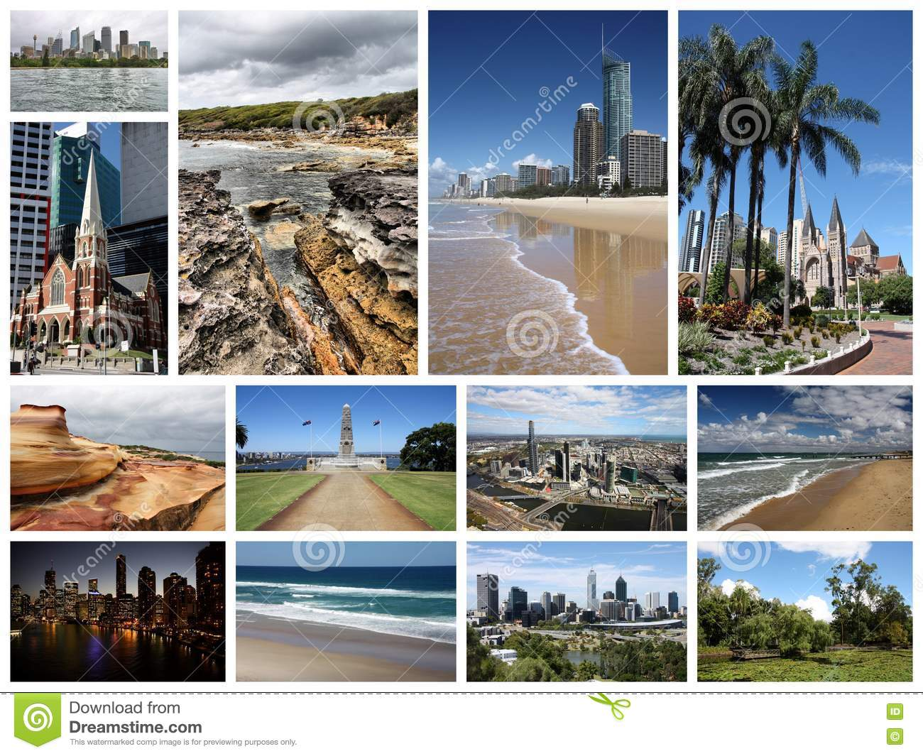 Collage Frames Australia Australia Collage Stock Image Image Of Attractions
