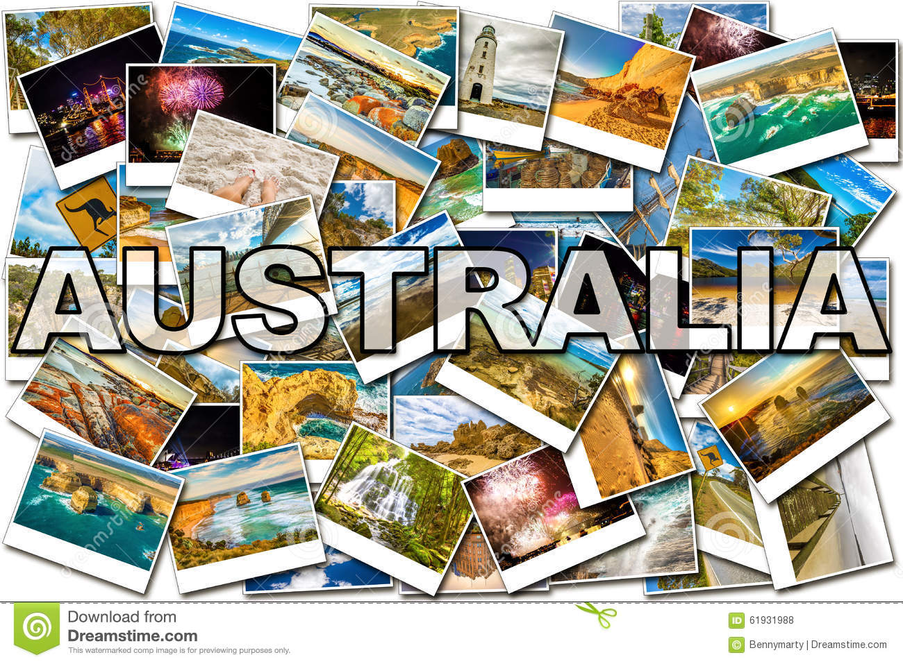 Collage Frames Australia Australia Pictures Collage Stock Photo Image Of Collage