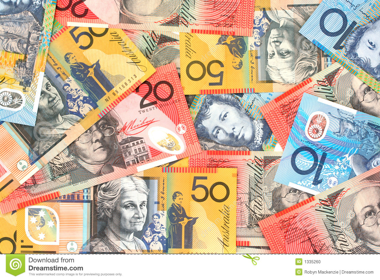 Collage Frames Australia Australian Money Stock Photo Image 1335260