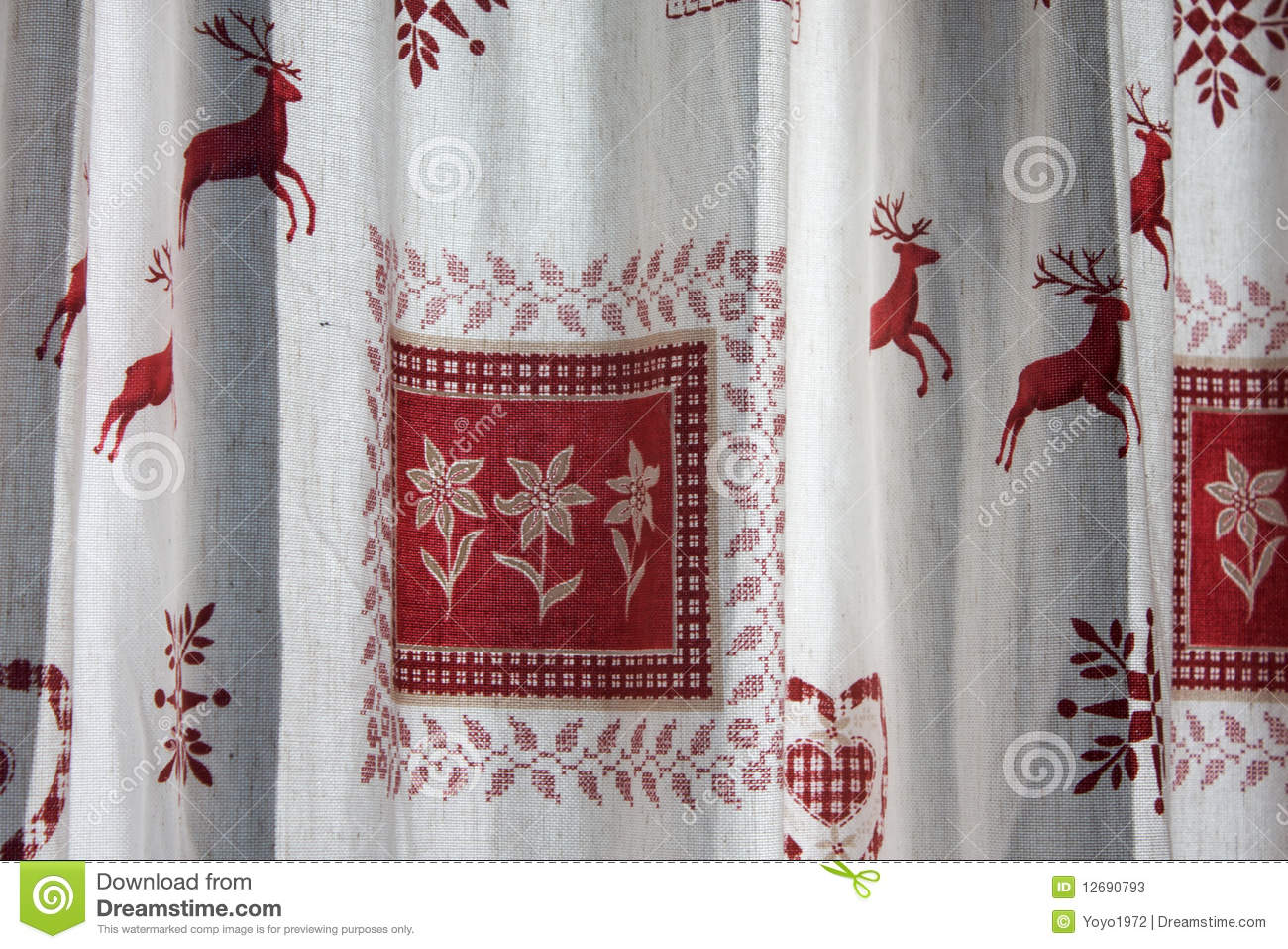 Austrian Curtains Austrian Curtains Stock Image Image Of Home Typical 12690793