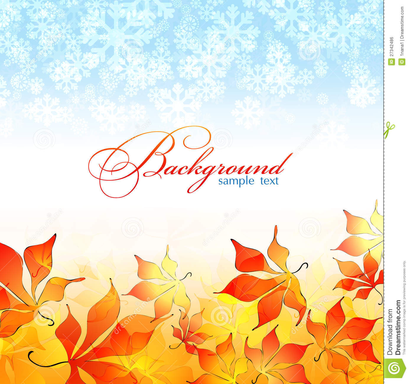 Free Fall Foliage Wallpaper Autumn Background Winter Background Stock Illustration