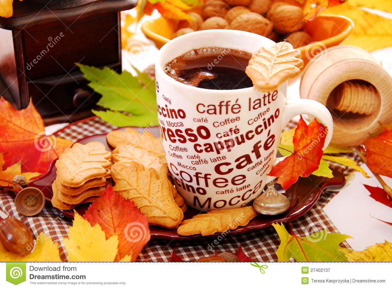Cozy Fall Hd Wallpaper Autumn Coffee And Cookies Stock Image Image Of Drink