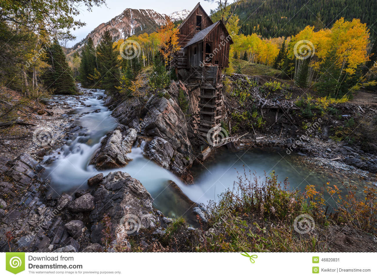 Fall Landscape Free Wallpaper Autumn In Crystal Mill Colorado Landscape Stock Image